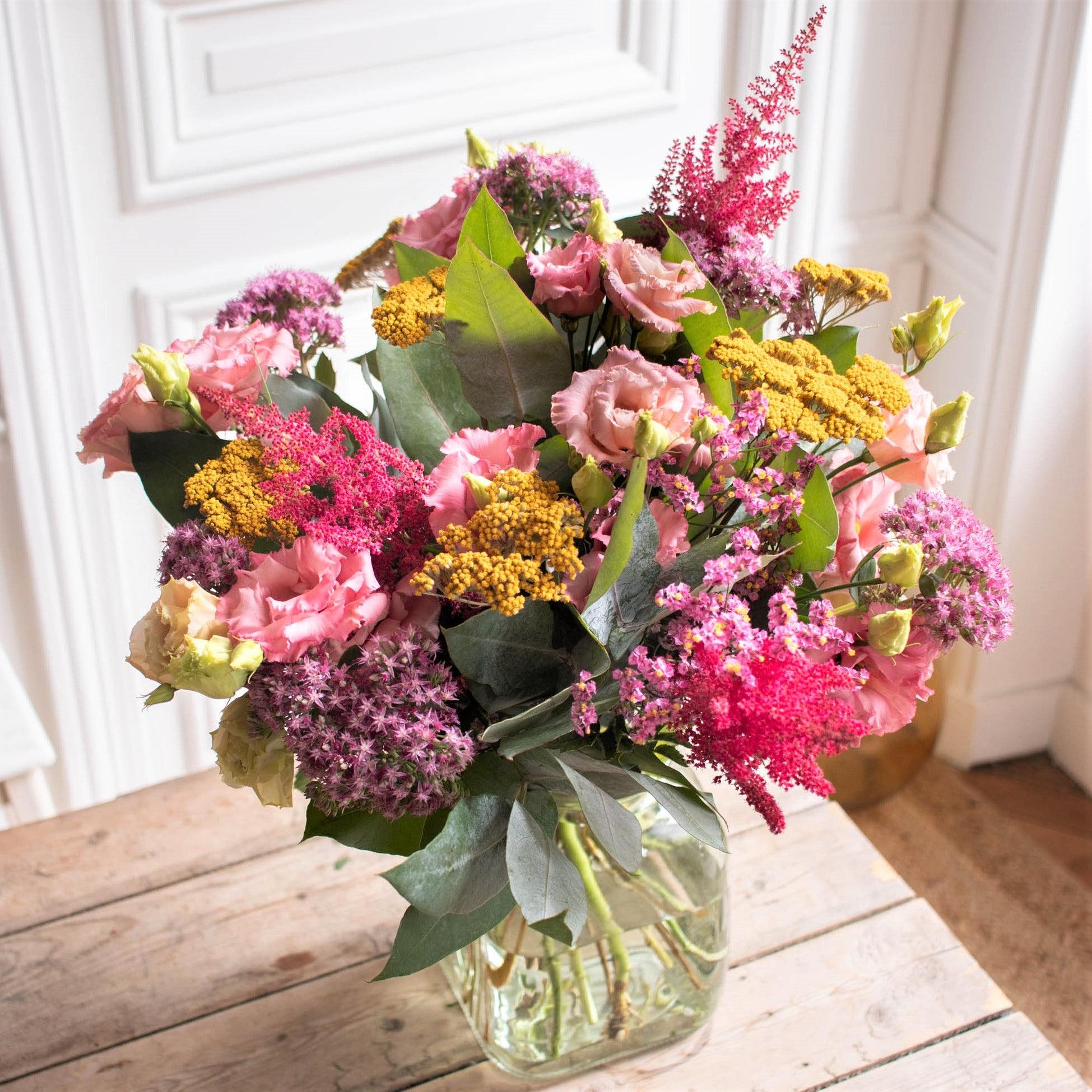 Bouquet Alberta+ & vase Belona vert