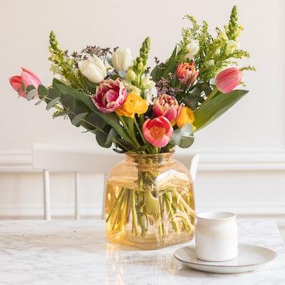 Bouquet Lugano & vase Belona ocre