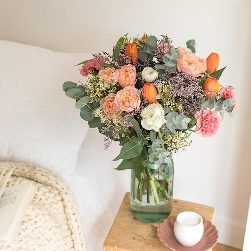 Bouquet Atacama et vase Le Parfait (avec ruban)