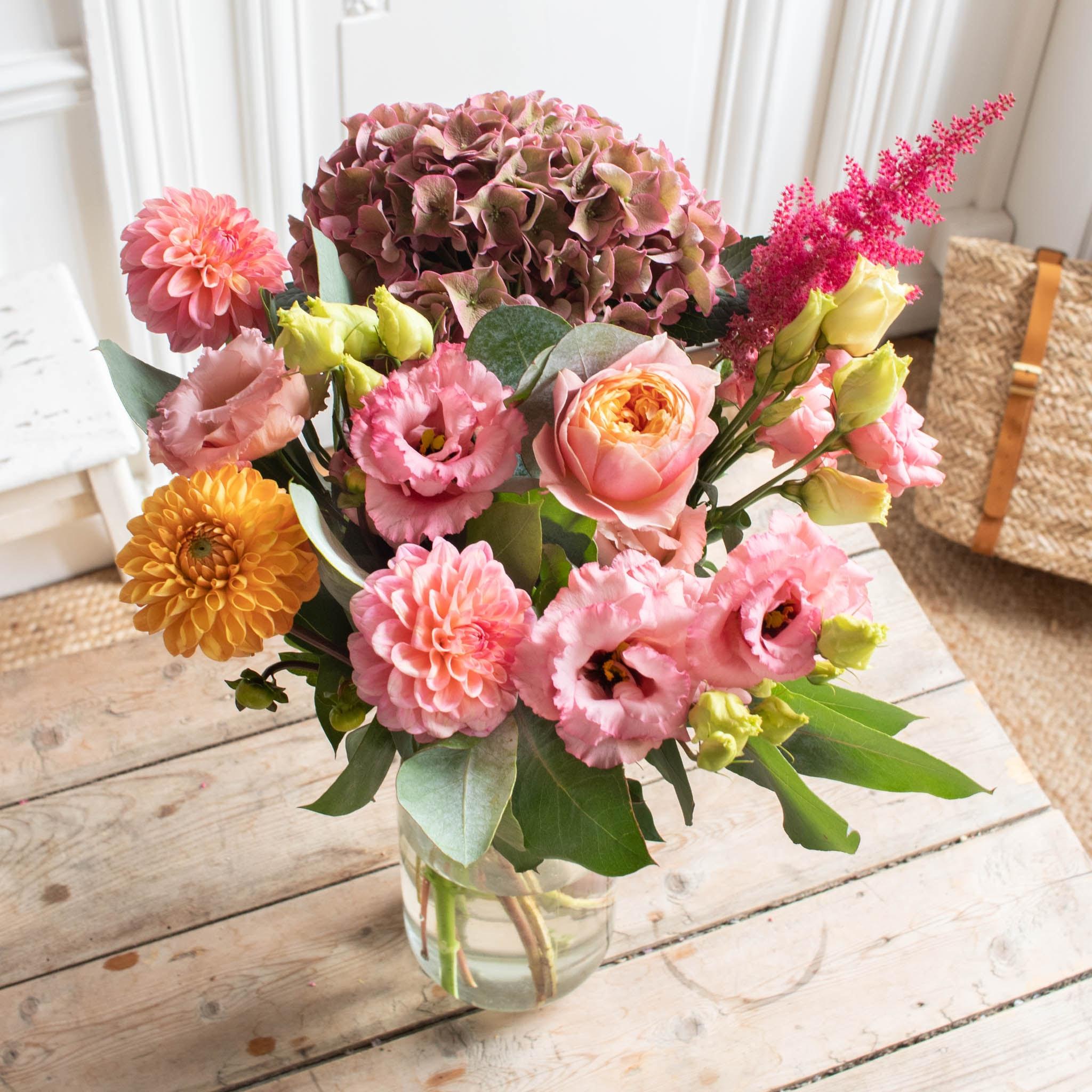 Bouquet Manitoba & vase Le Parfait