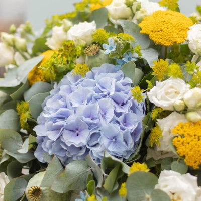 Nahaufnahme des Cinque Terre Blumenstrauß