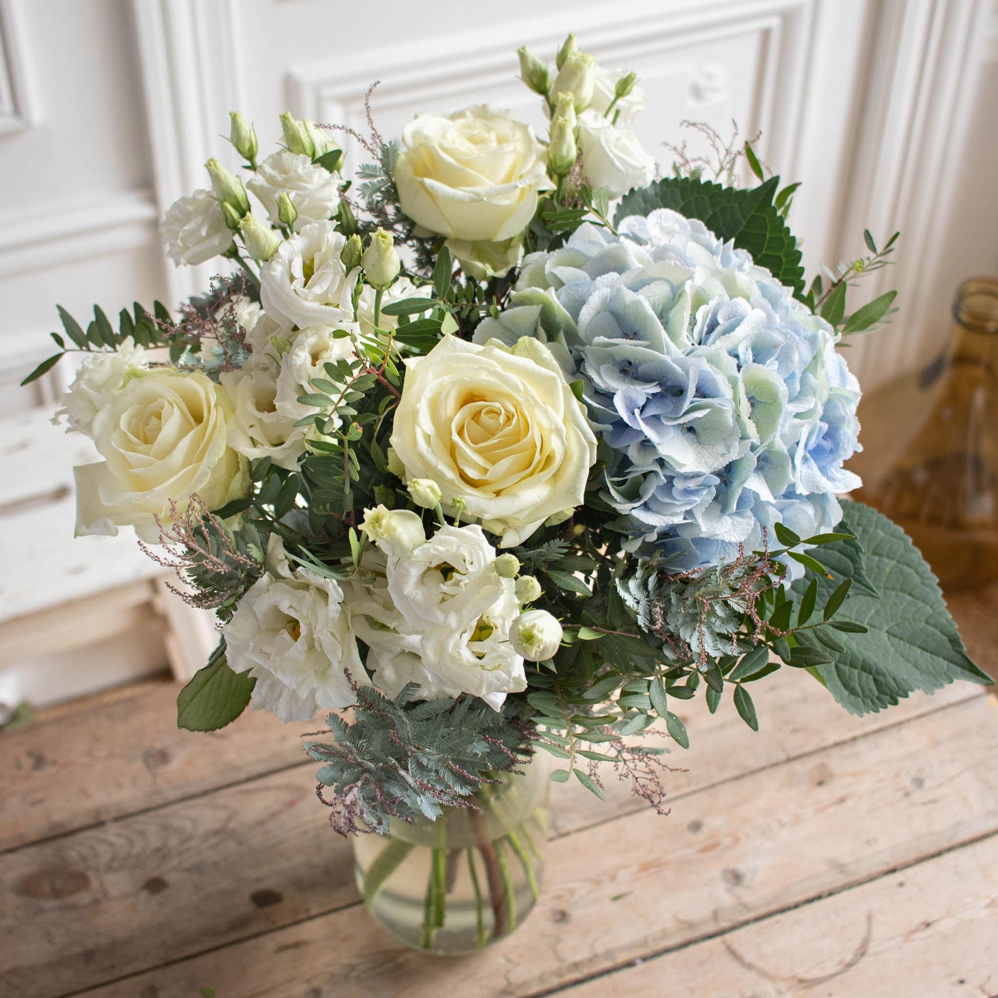 Bouquet Zahora & vase Le Parfait