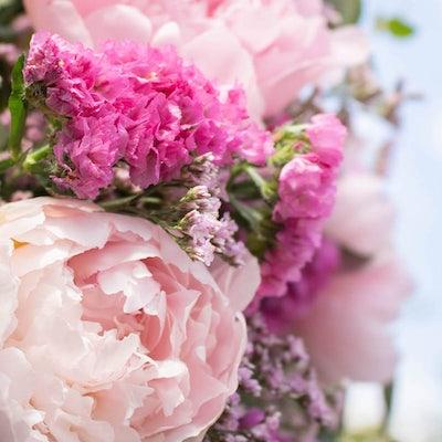 Nahaufnahme unseres Saint-Raphael + Blumenstraußes