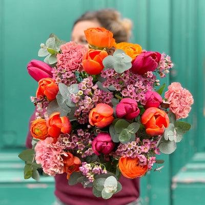 Bouquet coloré avec Tulipes