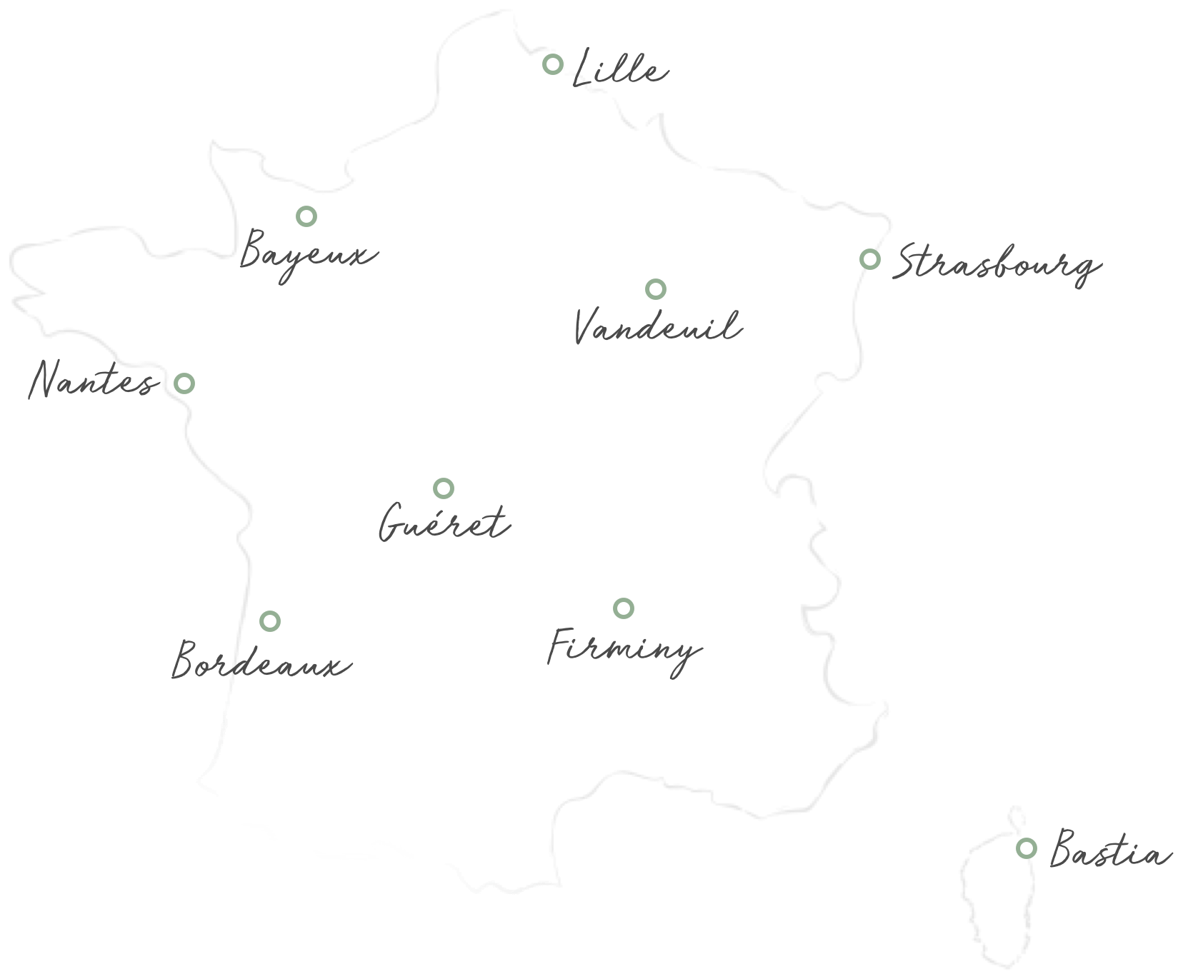 France delivery map