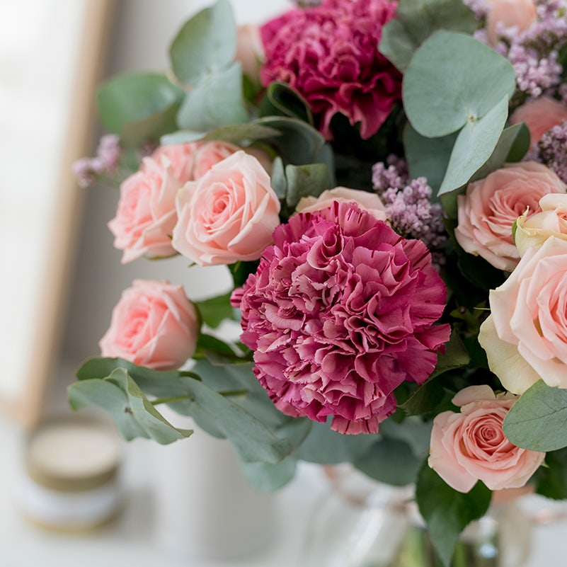 bouquet de fleurs avec oeillets