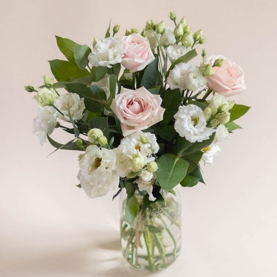 Bouquet Queenstown & vase Le Parfait