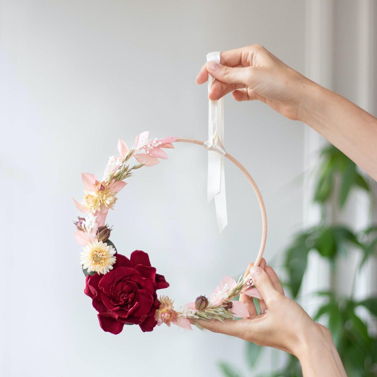 Cercle fleurs à broder diy