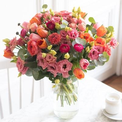Bouquet Bodrum & vase Le Parfait