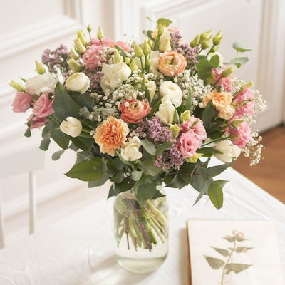 Bouquet Positano+ & vase Le Parfait