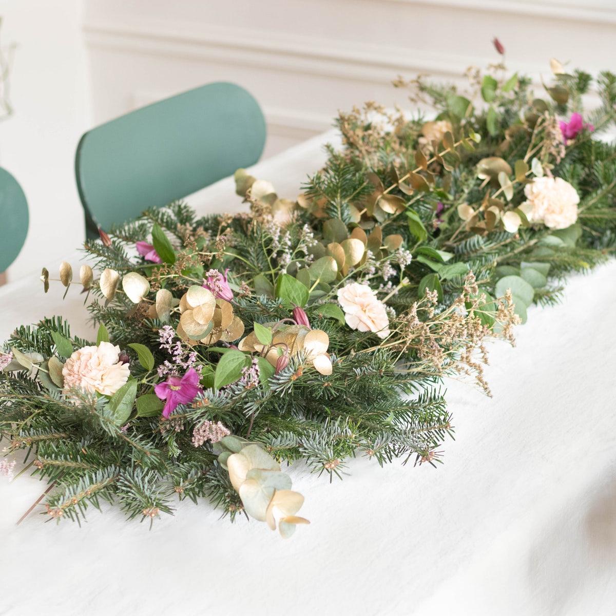 Centre de table fleurs fraiches DIY bergamotte
