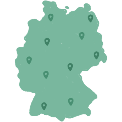 Germany delivery map