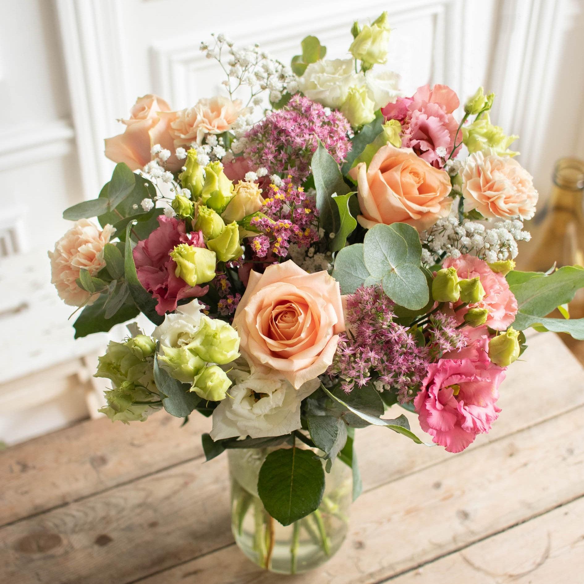 Bouquet Sorrento & vase Le Parfait