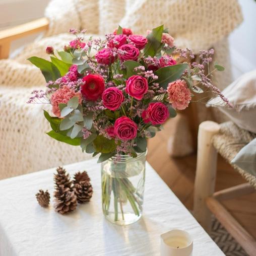 Bouquet Palawan et vase Le Parfait
