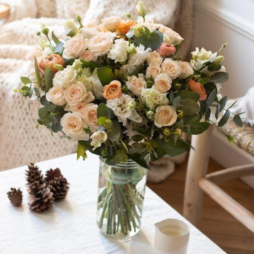 Bouquet Hobart+ et vase Le Parfait