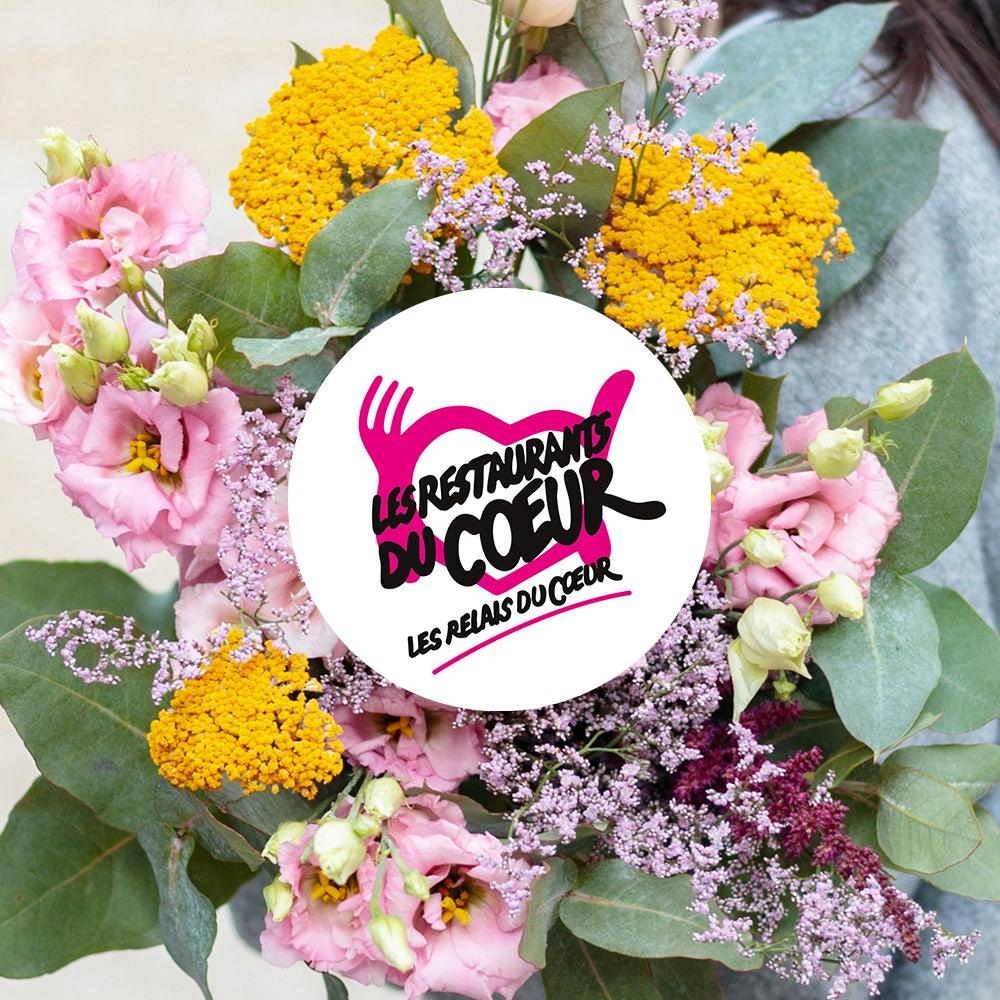 Bouquet en solidarité avec les restos du coeur