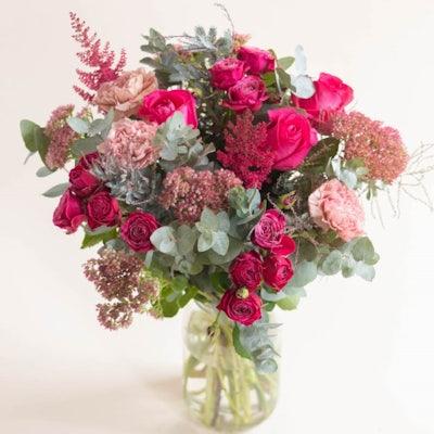 Bouquet Snowdonia & vase Le parfait