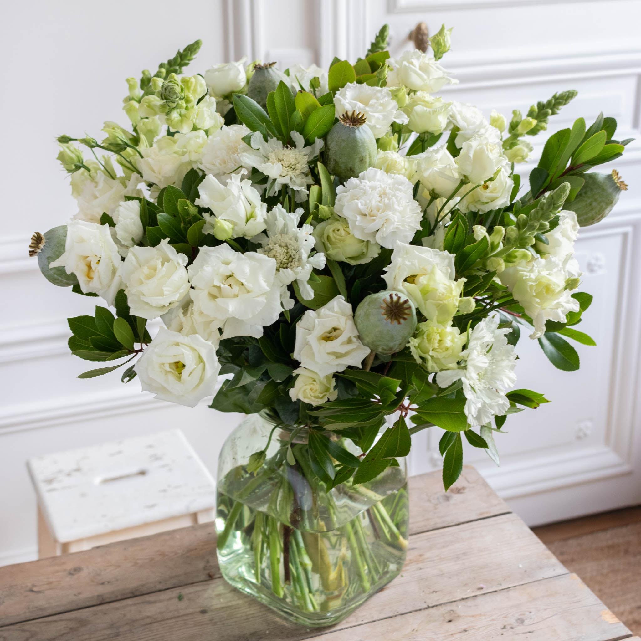 Blumenstrauß Mykonos+ & vase Belona grüne
