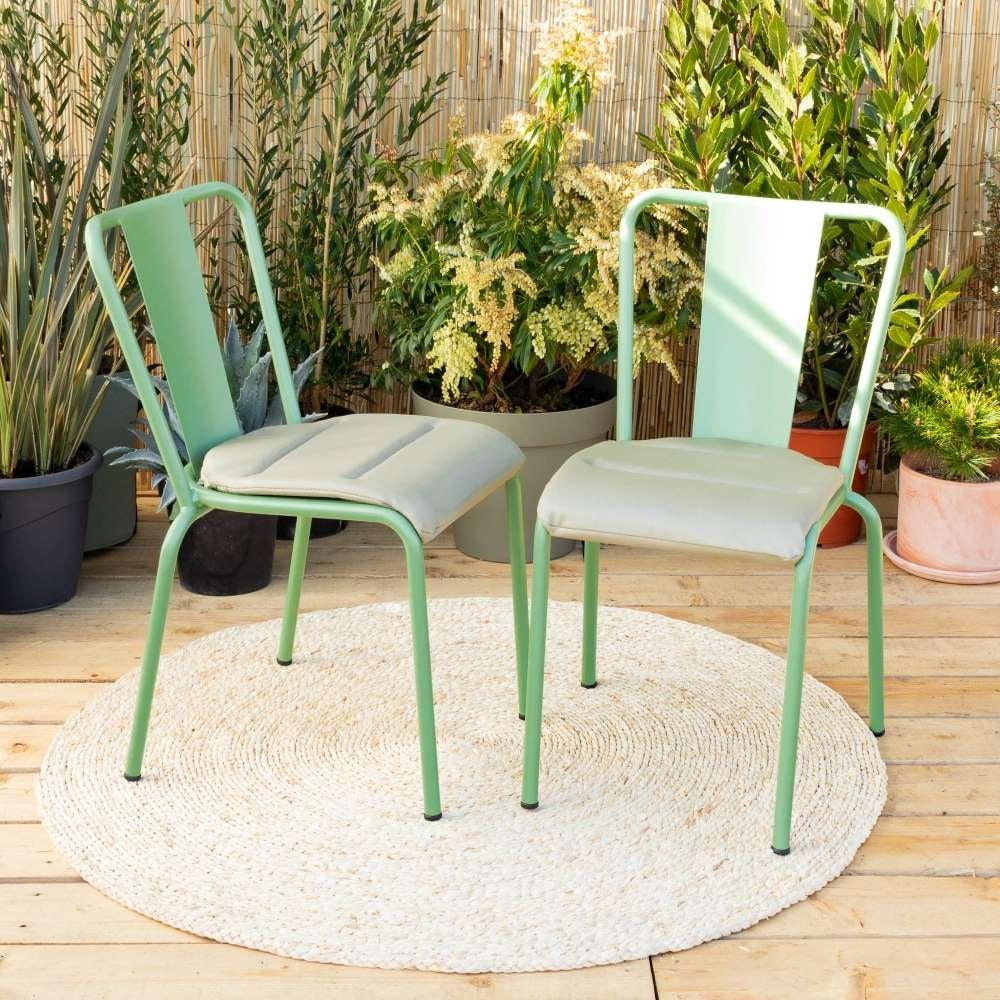 Coussins verts pour chaises Caparica