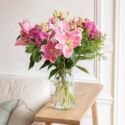 Unser DIY Strauß Coney Island in seiner perfekt abgestimmten XL Le Parfait Vase.