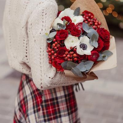 Bouquet fleurs de Noël