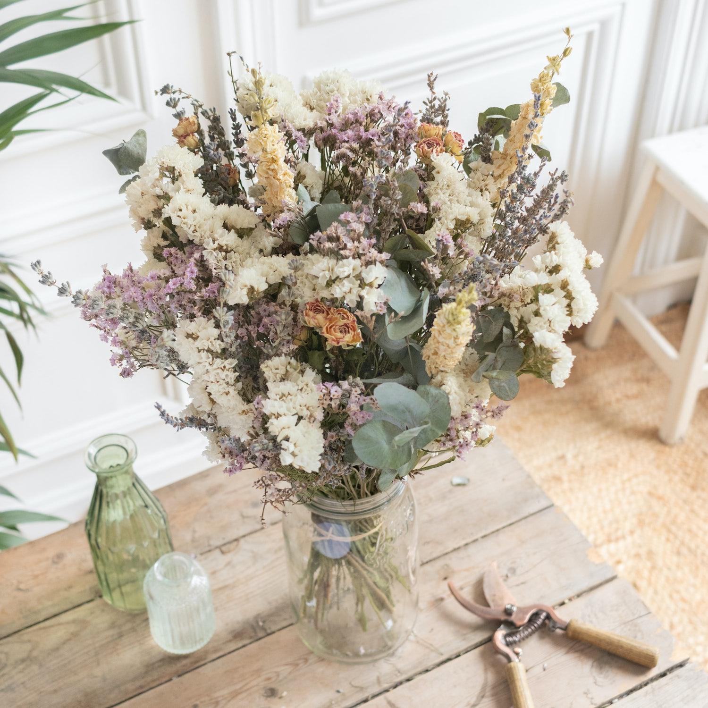 Trockenblumenstrauß Roussillon & Le Parfait vase