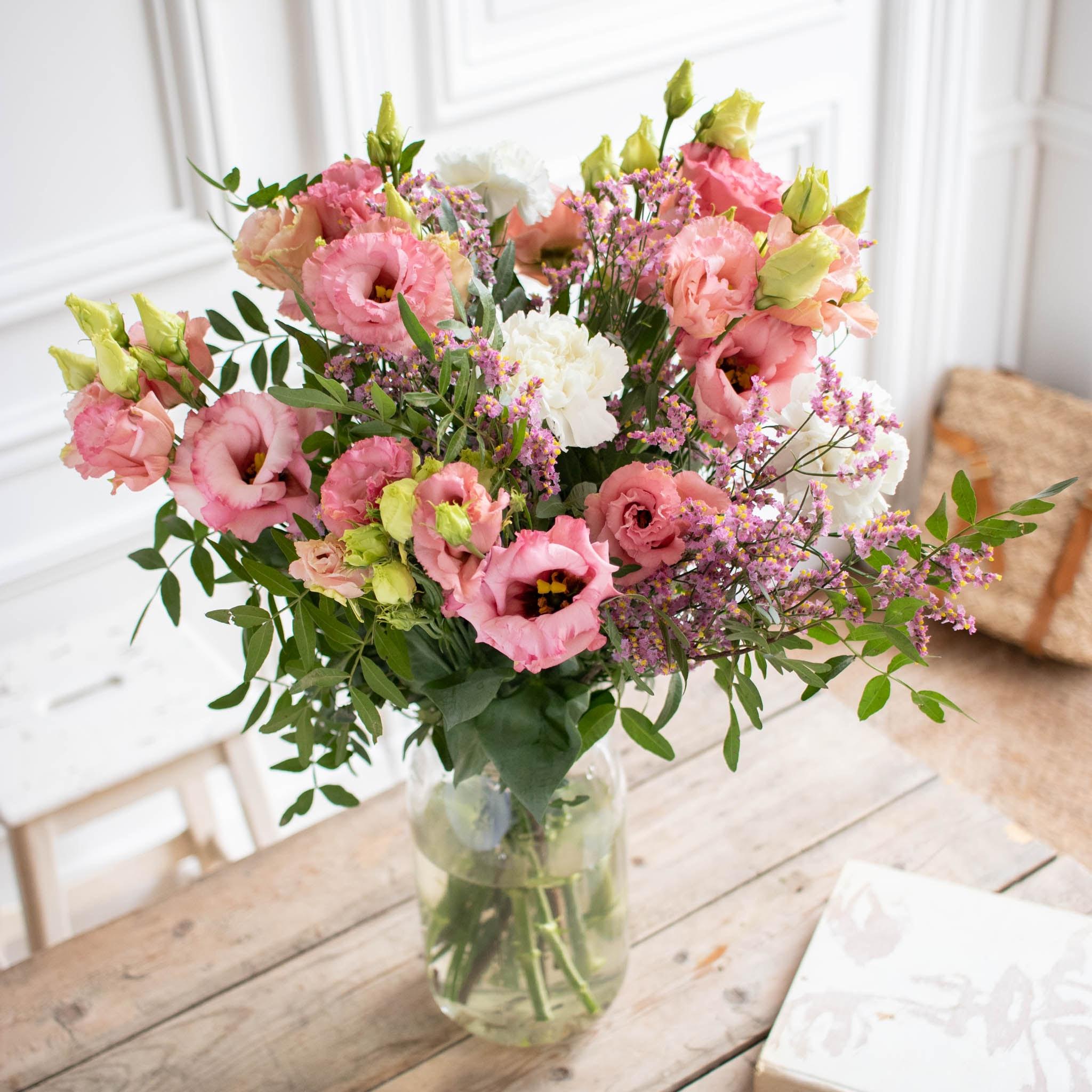 Bouquet Malibu & vase Le Parfait