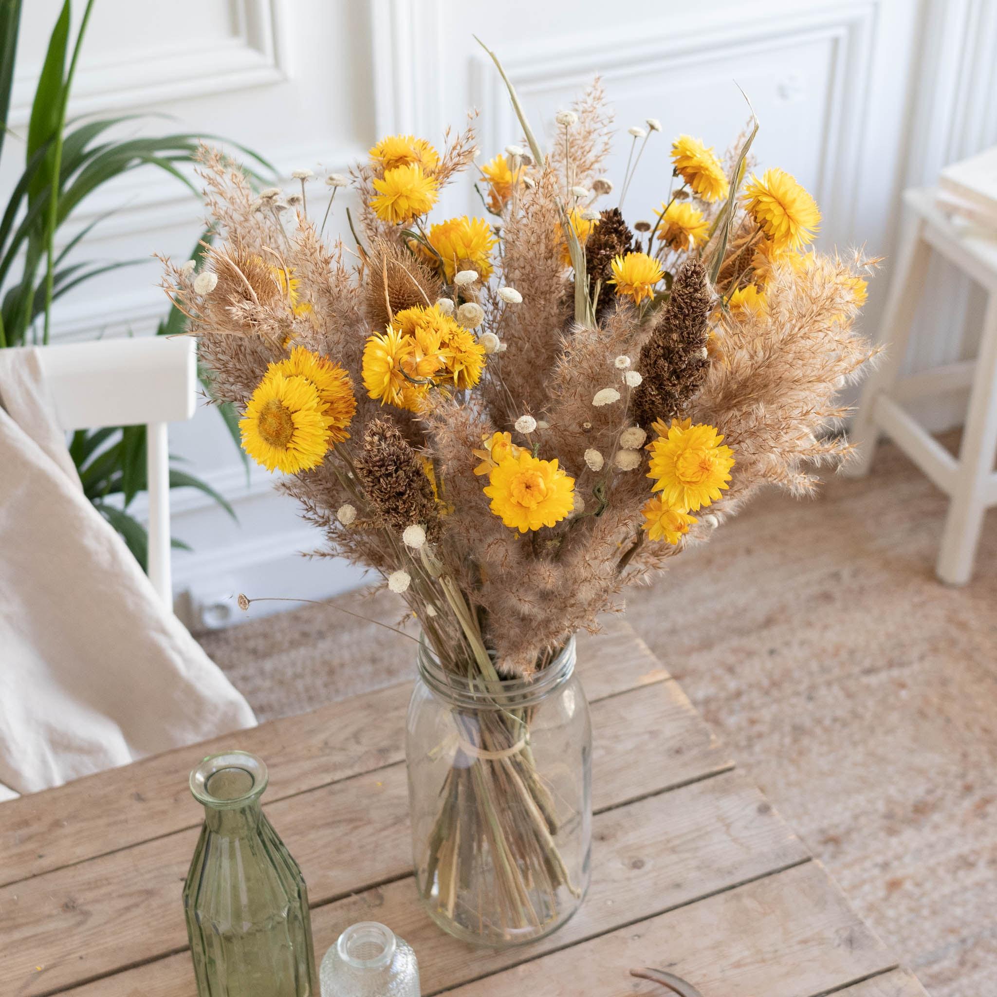 Blumenstrauß Yellowstone & Le Parfait vase
