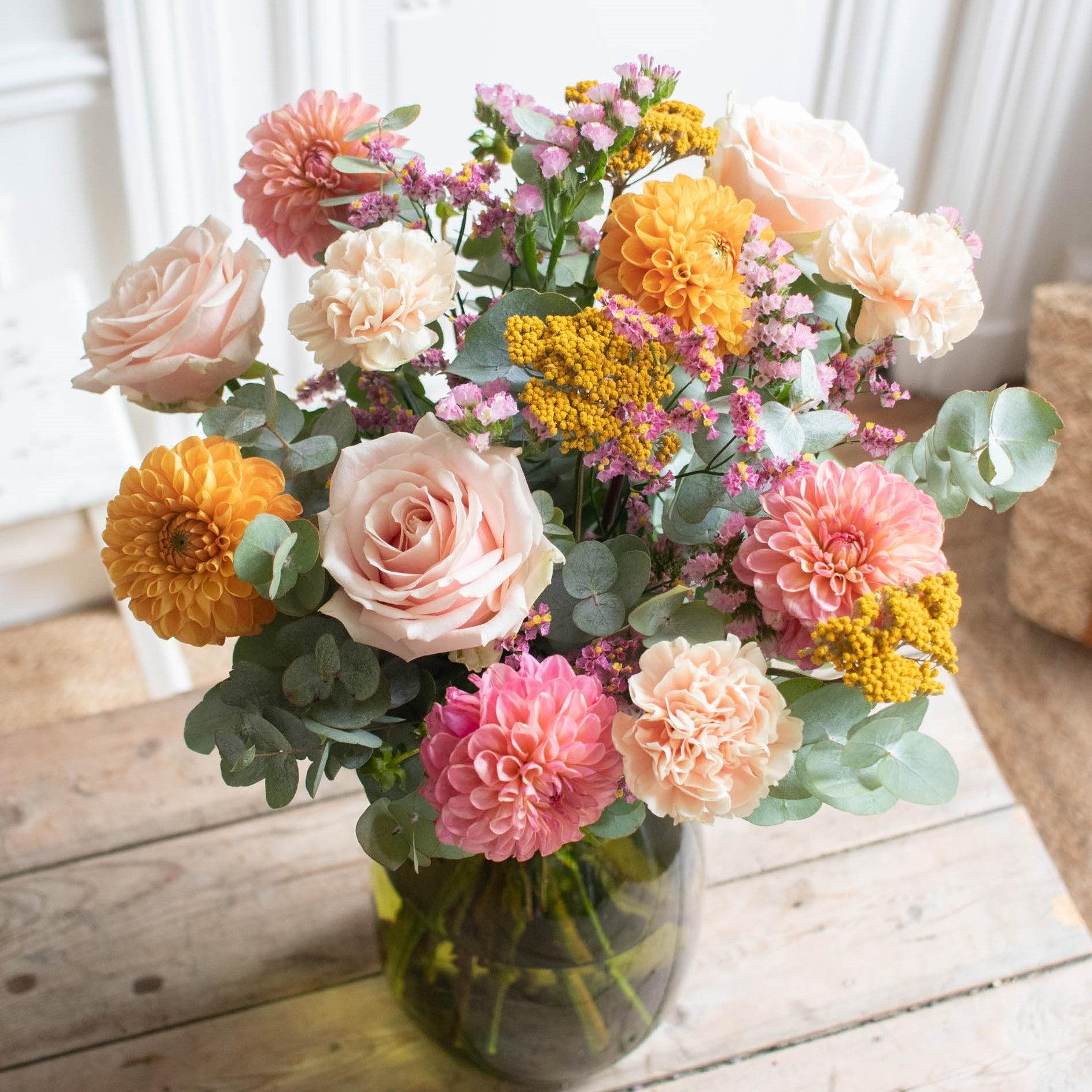Blumenstrauß Jaipur & vase Anyse Grüne