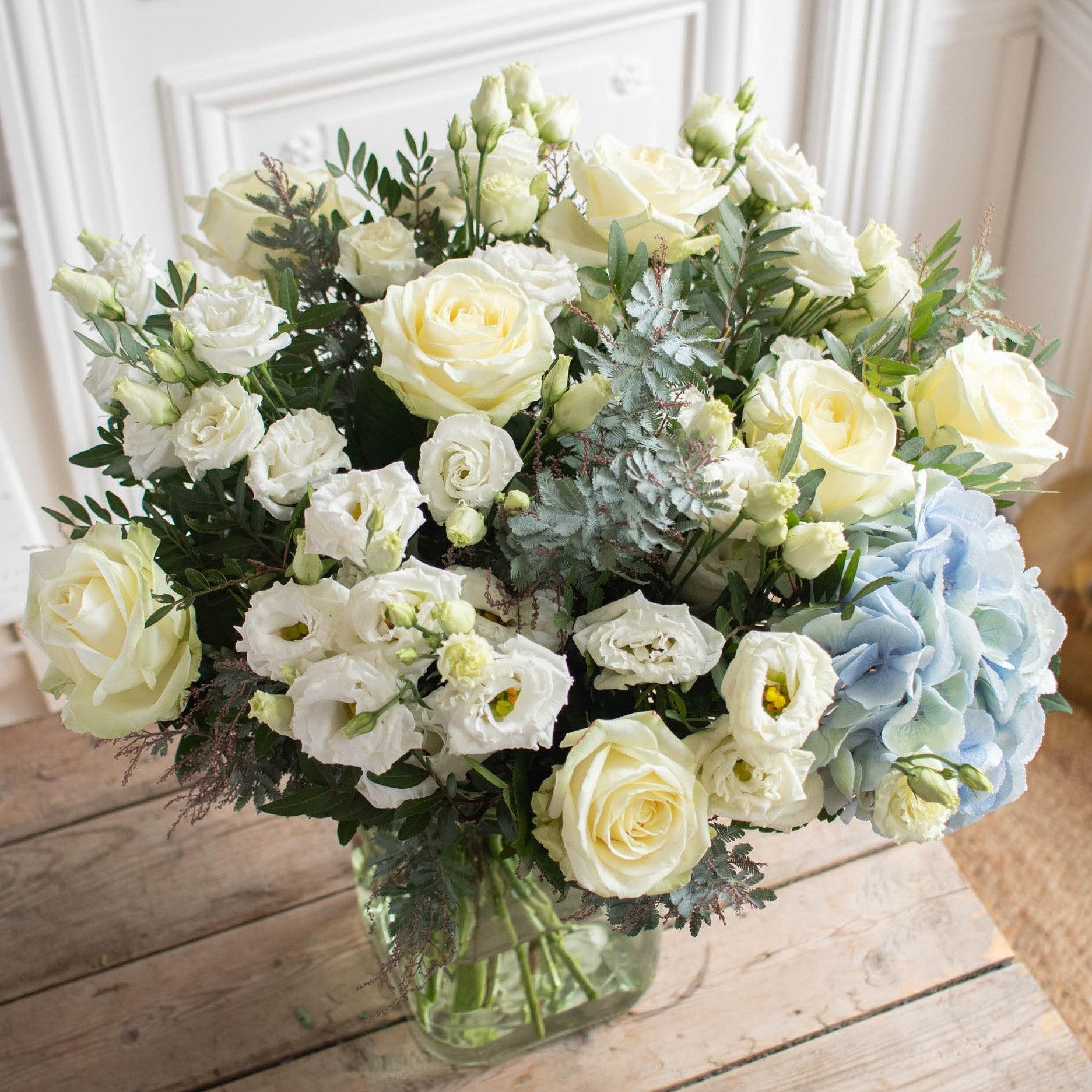 Bouquet Zahora+ & vase Belona vert