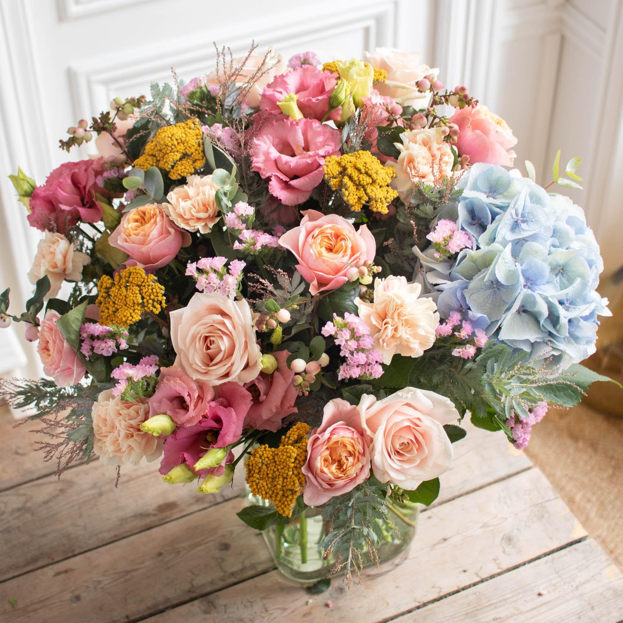 Blumenstrauß Bristol & vase Belona Grüne