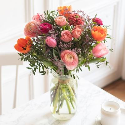 Bouquet Yukon & vase Le Parfait