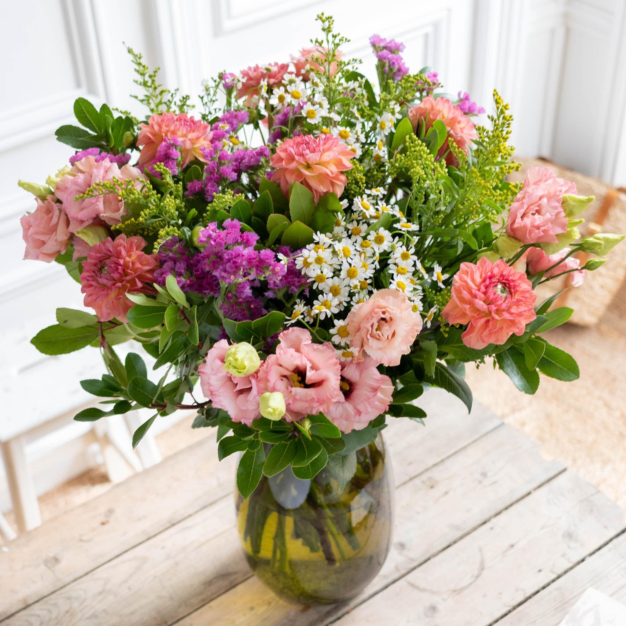 Bouquet Mundaka+ & vase Anyse vert