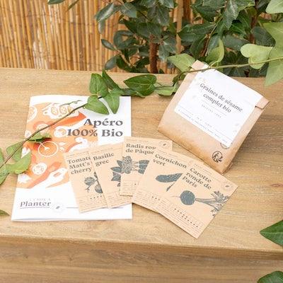 Coffret de graines La Box à Planter - Apéro 100% bio
